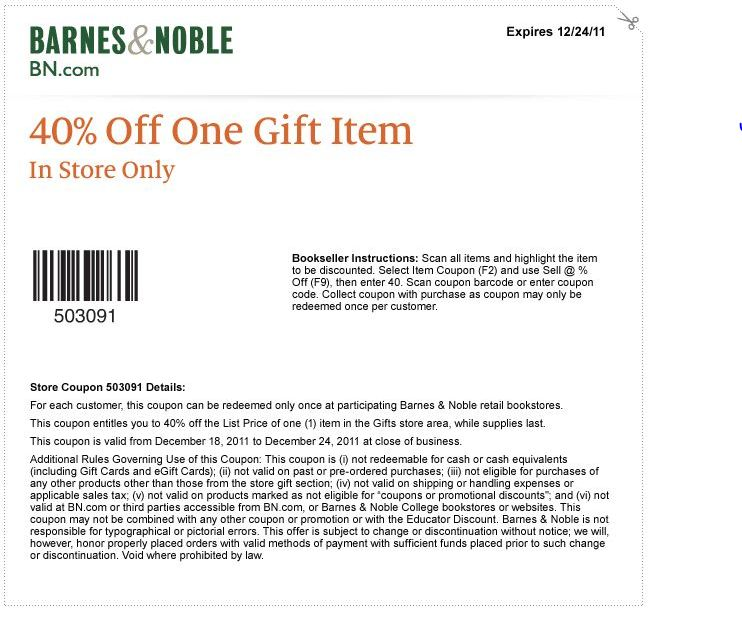 photograph about Barnes and Noble Printable Coupon called Barnes and noble discount codes on the web purchasing - Boundary