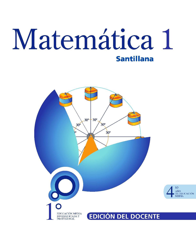 Matemática 1: 4to año de Educación Media – Santillana
