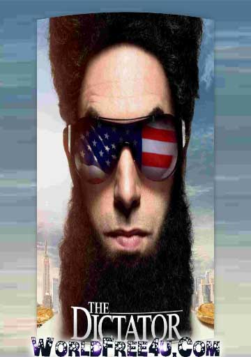 Poster Of The Dictator 2012 In Hindi Bluray 720P Free Download