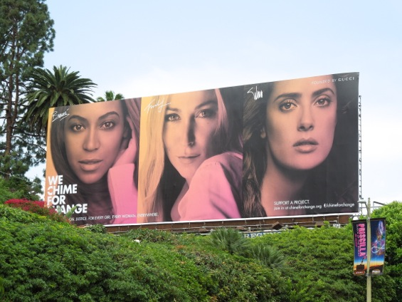 Gucci We Chime for Change billboard