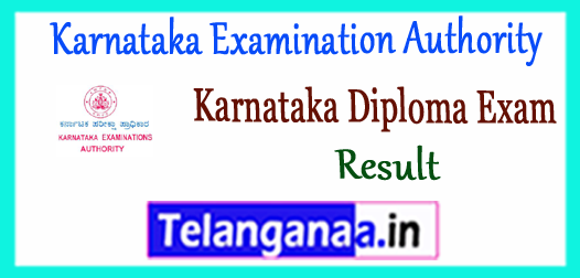 Karnataka Examination Authority Karnataka Diploma CET Result 2018 Counselling