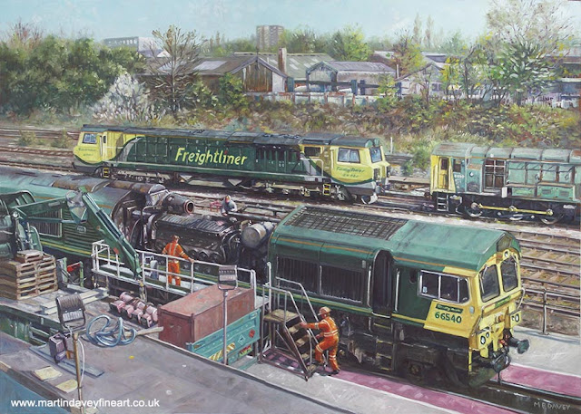 martin davey southampton freightliner train repair railroad painting