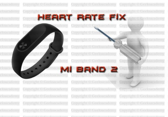 Xiaomi Mi band 2 heart rate not working How to fix it