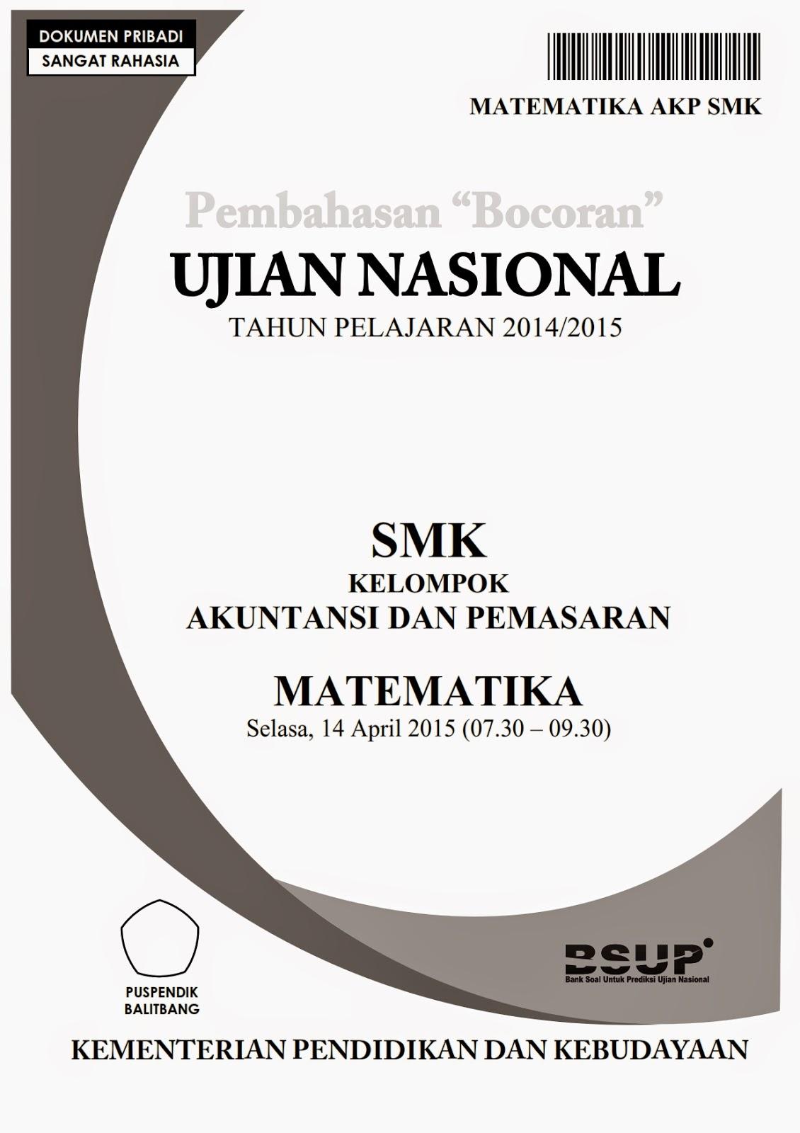 Pembahasan Soal Un Matematika Akp Smk 2015 Prestasi Rumus Matematika Lengkap