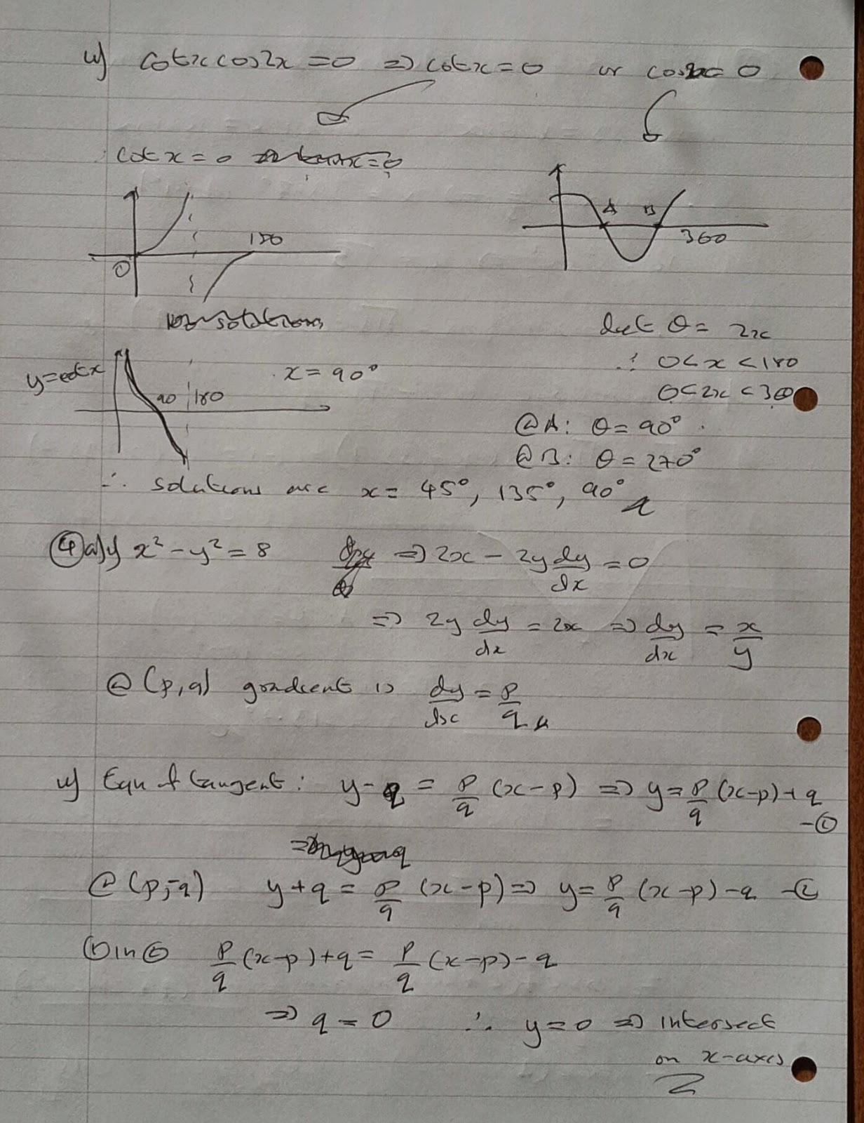 A Level Maths Notes: AQA Core 4 Winter 2013 Exam Paper