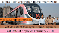 Delhi Metro Rail Corporation Recruitment 2018– 1896 Assistant Manager, Junior Engineer, Maintainer