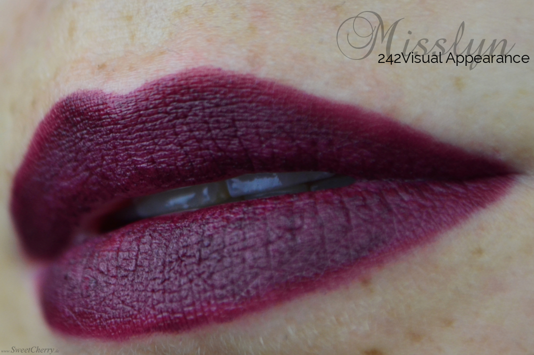 Misslyn Bedtime Stories Kollektion Cream to Matt Longlasting Lipstick Visual Appearance