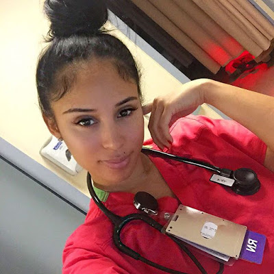 Nurse Kaicyre Palmers sexy photos