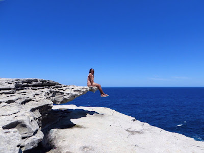 Tausha Cowan on the Bondi to Coogee Coastal Walk in Sydney, Australia