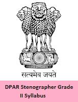 DPAR Stenographer Grade II Syllabus