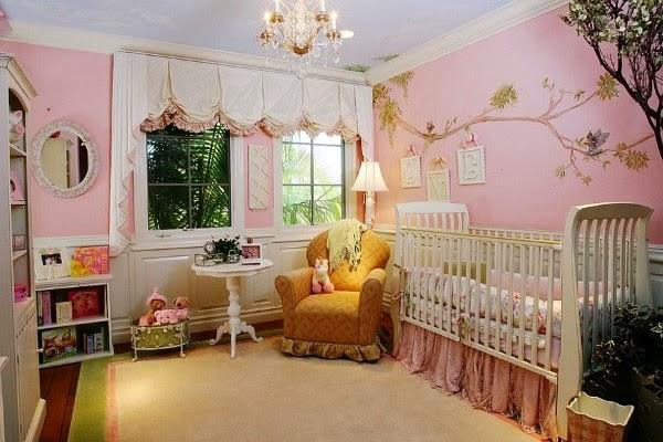 habitación rosa bebé