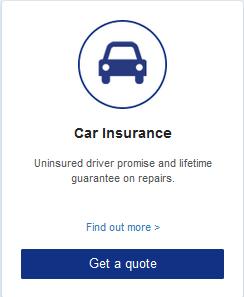 Car Insurance  Uninsured driver promise and lifetime guarantee on repairs.