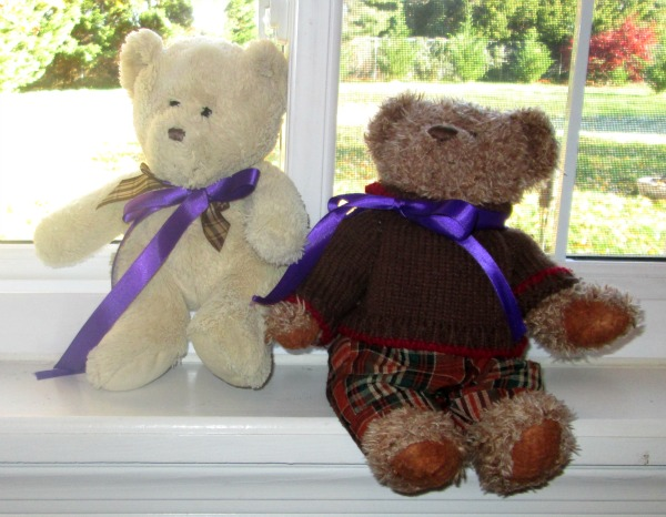 what to do with all those monthly baby photos you've been taking: make a photo banner for your baby's first birthday party and use teddy bears as decorations