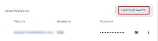Cara Memindahkan kata Sandi yang Tersimpan di Google Chrome