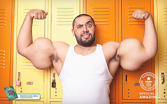Strength Fighter Synthol Freak Moustafa Ismail 31 Inch