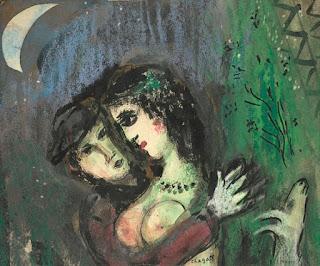 Марк Шагал. Влюбленные в лунном свете. 1949