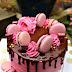 Pink Macaron Chocolate Ganache Drip Cake