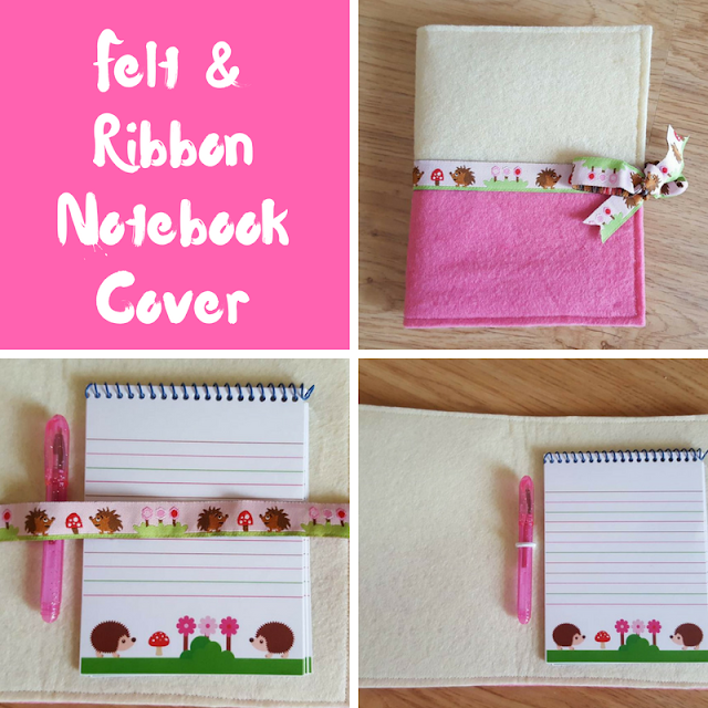Felt & Ribbon Notebook Cover
