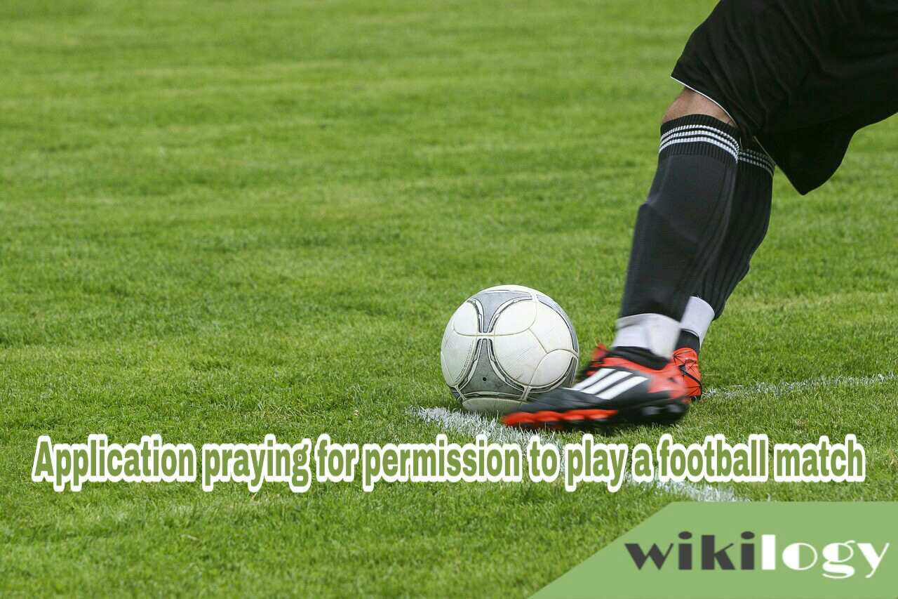 Application praying for permission to play a football match