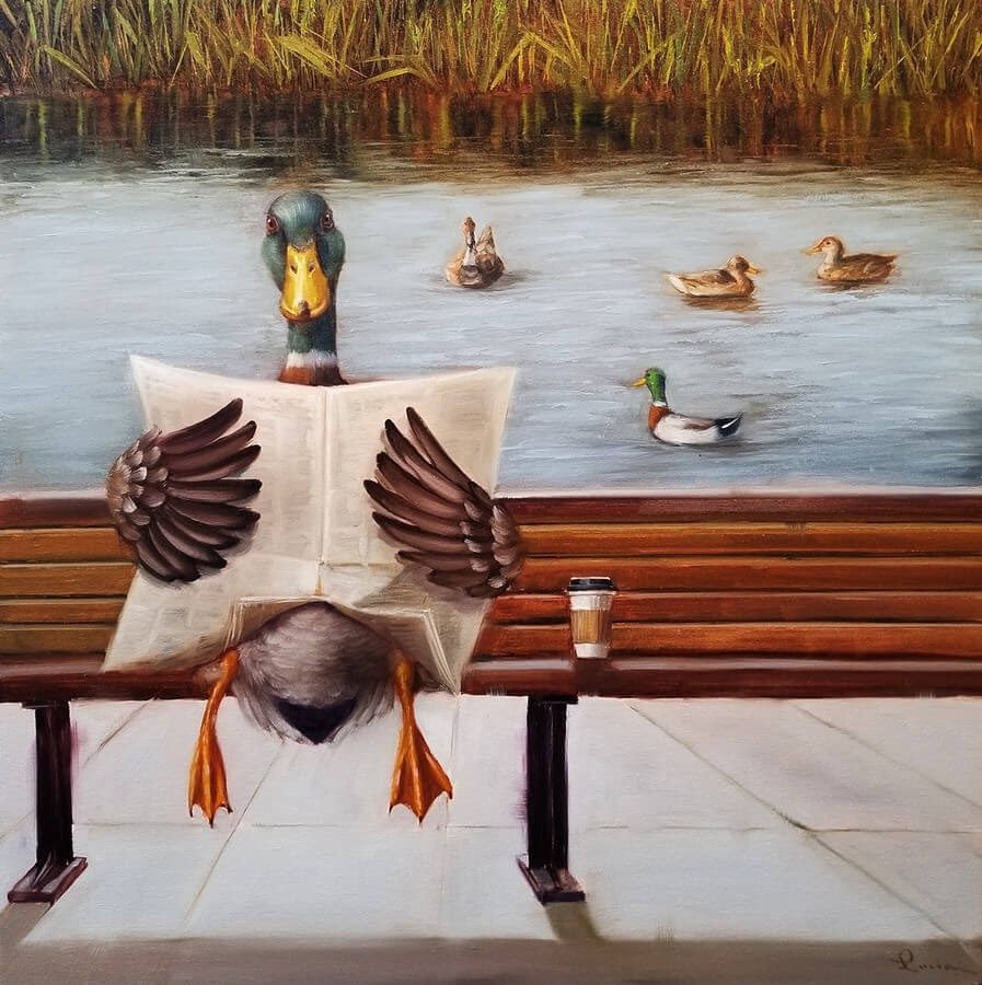 05-Sitting-Duck-Lucia-Heffernan-Oil-Paintings-www-designstack-co