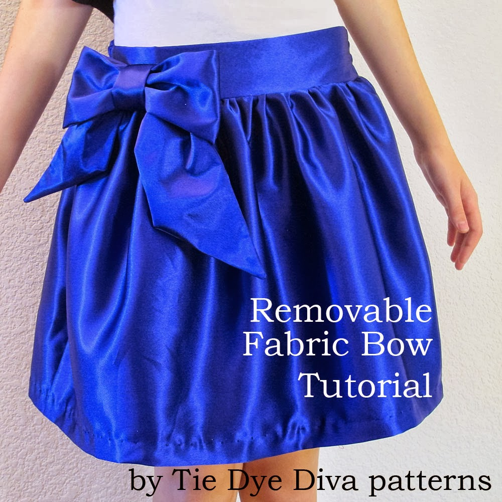 Tutorial how to make a big removable fabric bow tie dye diva tutorial how to make a big removable fabric bow baditri Gallery