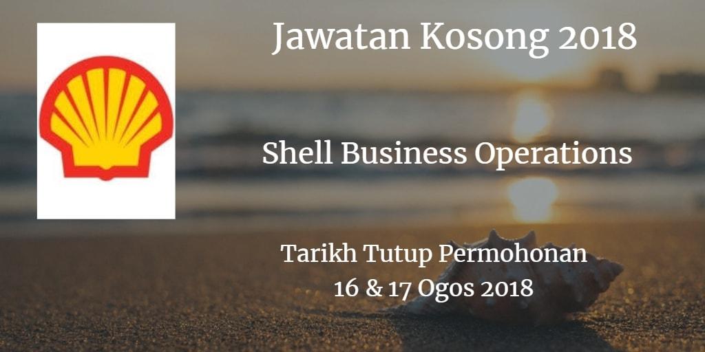 Jawatan Kosong Shell Business Operations 16 & 17 Ogos 2018