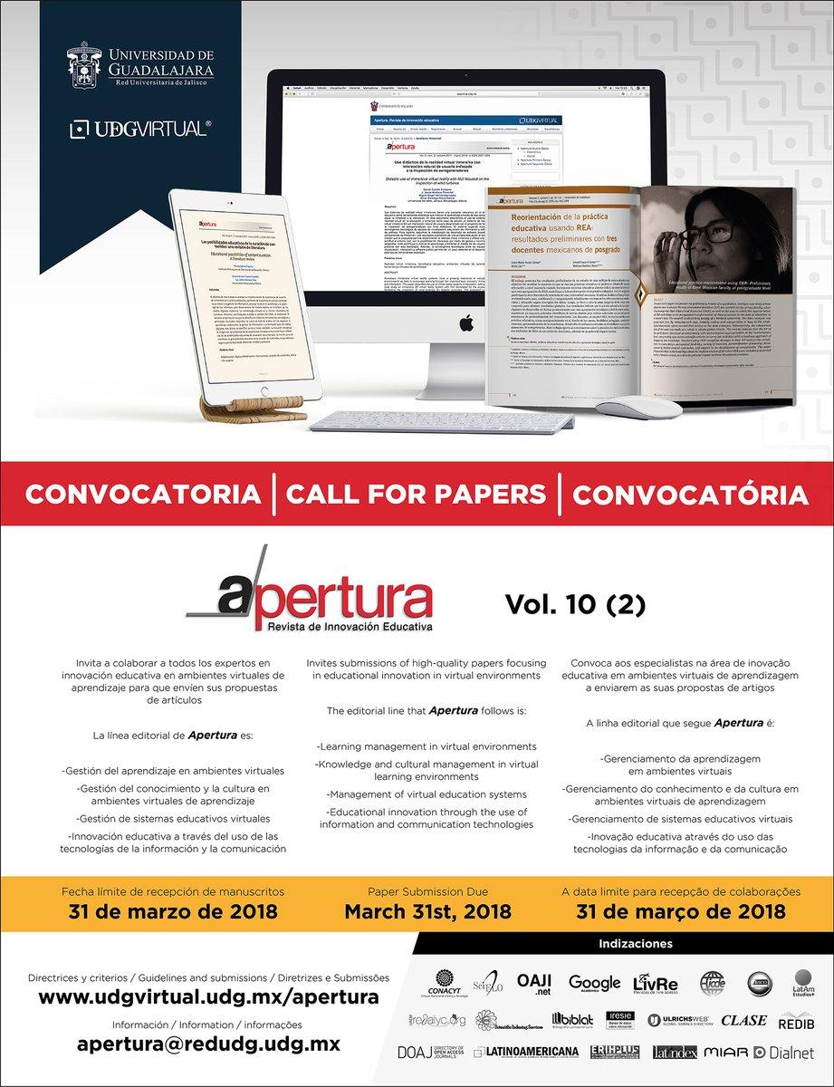 CallforPapers Call for Papers Innovación educativa en ambientes ...