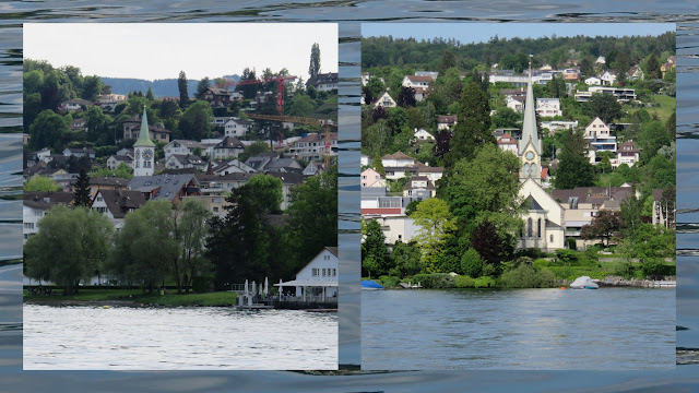 Church Spires on Zurich Lake