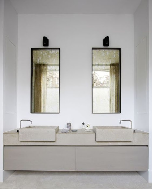 Modern luxury bathroom minimal sophisticated interior design by Piet Boon