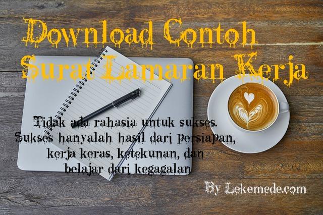 Download Contoh Surat Lamaran Kerja Gratis