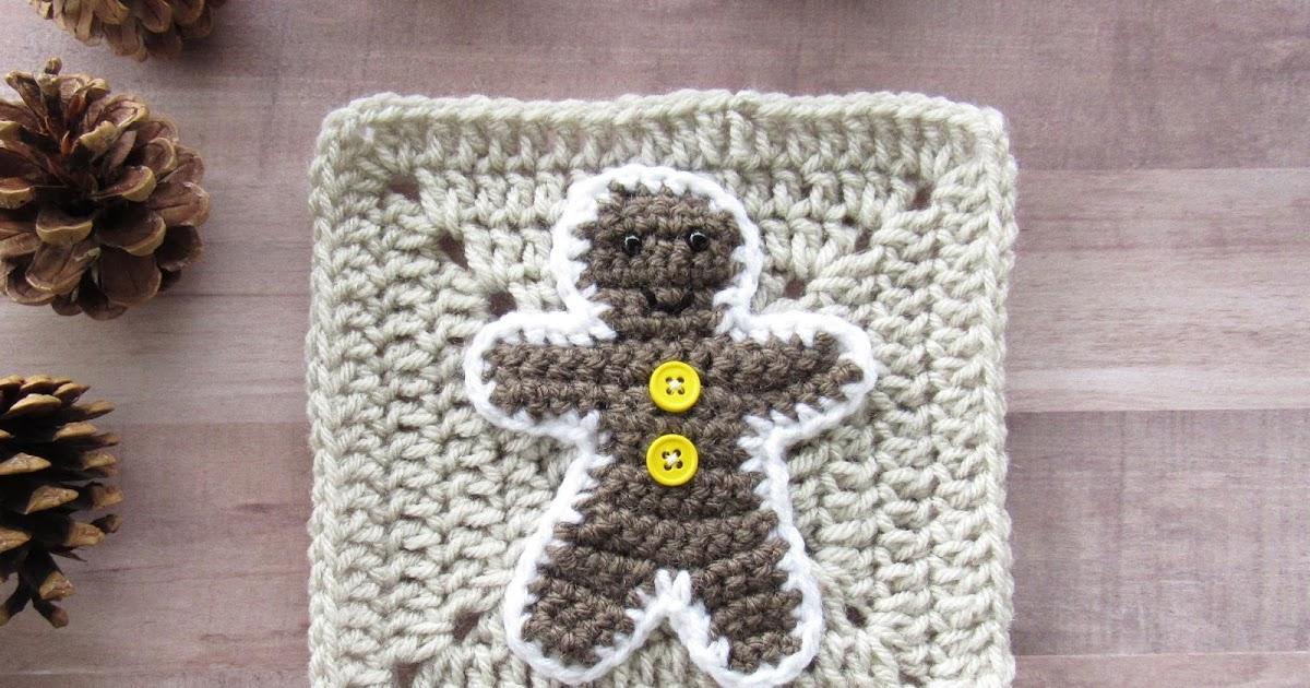 Week 5 Christmas Granny Afghan Cal Gingerbread Man Marias