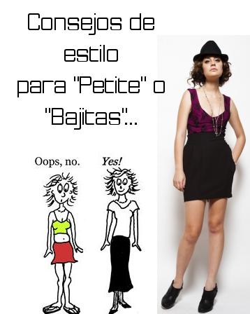 consejos de estilo para mujeres bajitas o petite moda lista