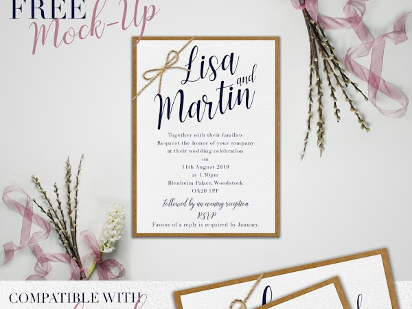 Wedding Invitation Mockup PSD Free Download