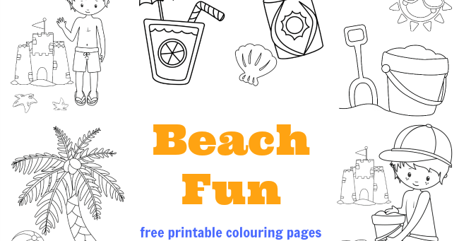 Beach Colouring Pages Free