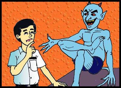 Hasil gambar untuk 10 Jawaban Mengatasi Bisikan Iblis