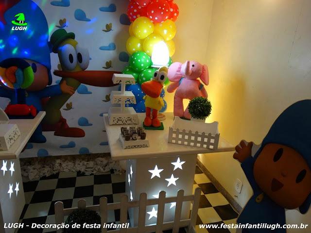Decoração de aniversário Pocoyo - Mesa decorada infantil