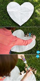 como hacer corazones de carton