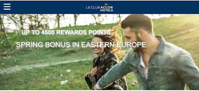 入住Accor雅高東歐地區酒店最高可額外贏取4500獎勵積分(價值90歐元)!(3/18前預定)