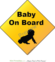 Image: Free Baby On Board sign