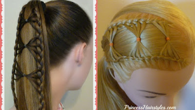 2 video hair tutorials using the bow tie braid.