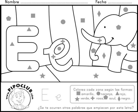 Actividades y ejercicios para infantil y primaria: colorea con formas