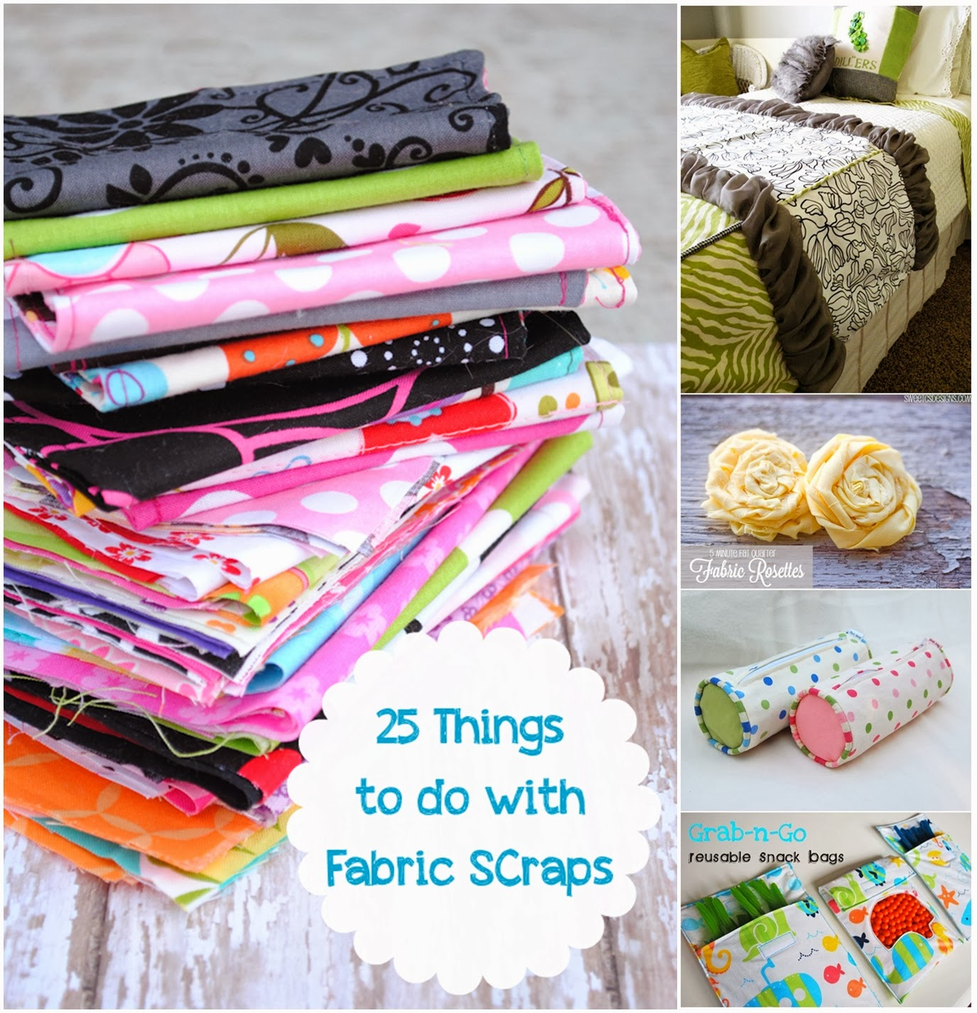25 Things To Do With Fabric Scraps - DIY Craft Projects