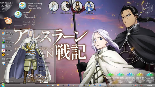 Windows 8.1 Theme Arslan Senki by Andrea_37