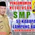 Pengumuman Kelulusan SMP Sub Rayon 03 Way Tenong, Air Hitam Kabupaten Lampung Barat Tahun 2018