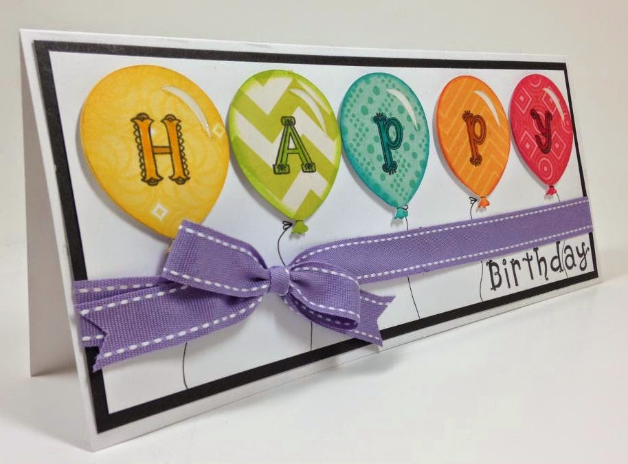 Cricut Artiste Balloon card