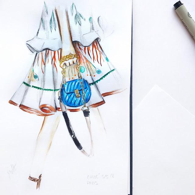chloe bag detail illustration