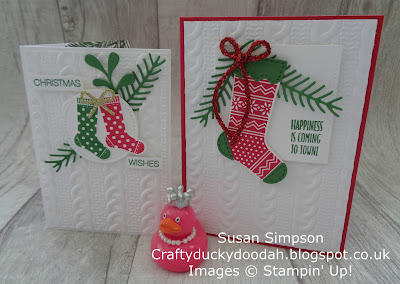 Craftyduckydoodah!, Hang Your Stocking, September 2017 Coffee & Cards Project, Stampin' Up! UK Independent  Demonstrator Susan Simpson, Supplies available 24/7 from my online store,