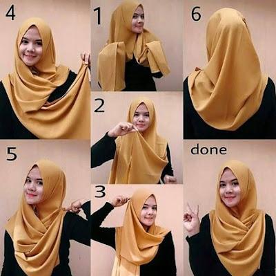 20 Tutorial Hijab Pashmina Pesta Pernikahan Glamour