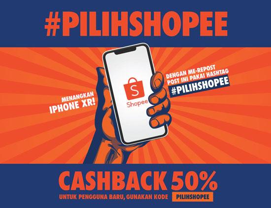 Pilihshopee, Modal Repost Bisa Dapat Iphone XR Gratis, Mau?