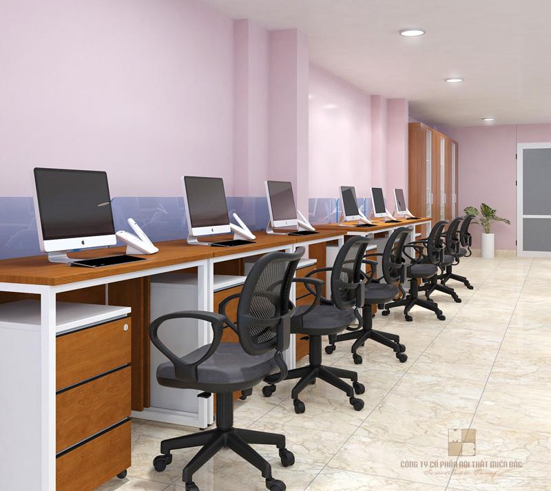 Thiết kế văn phòng tại Hà Nội đơn giản và thoải mái